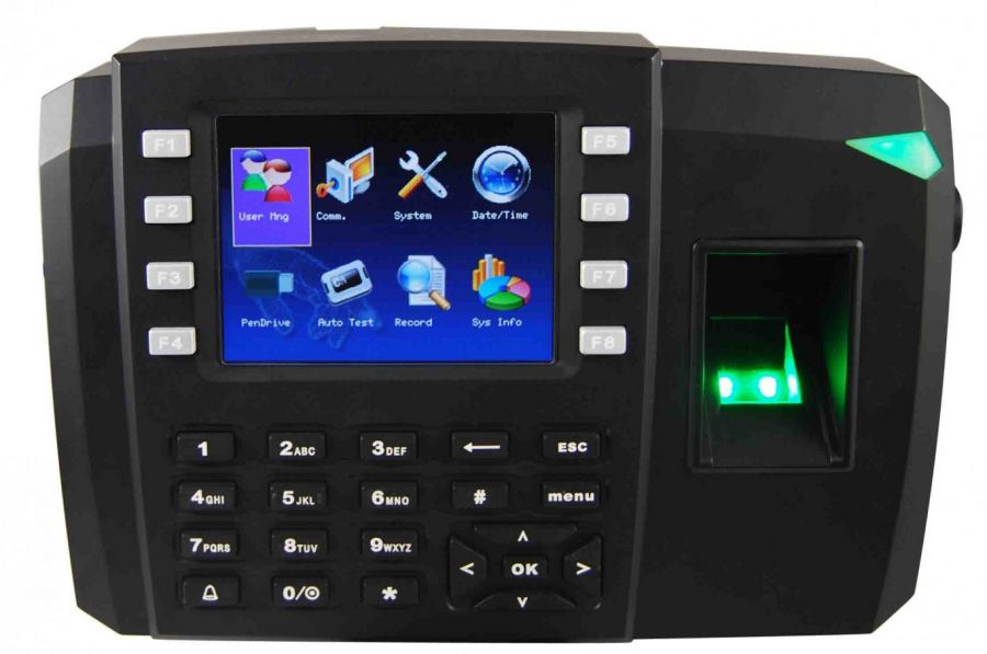 Multimedia Fingerprint Access Control With Time Attendance Terminal Tft