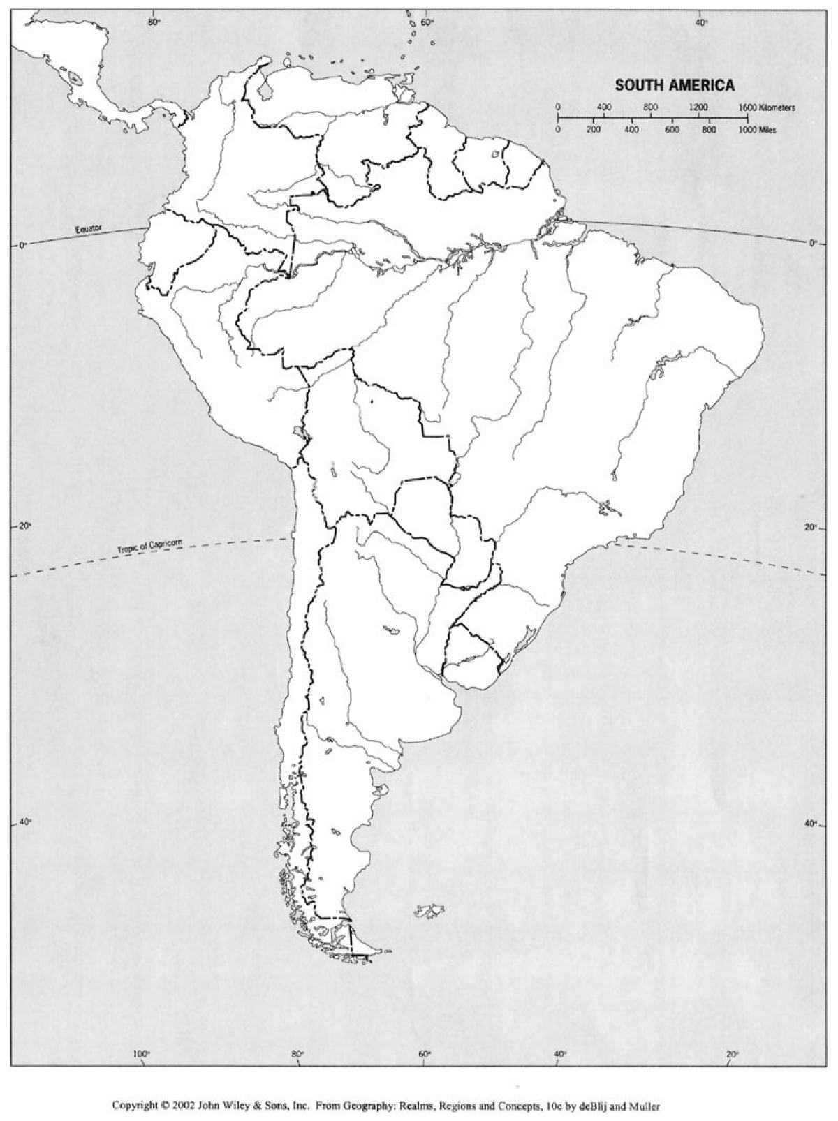 South America Blank Map Fans Share Images - North america physical map test