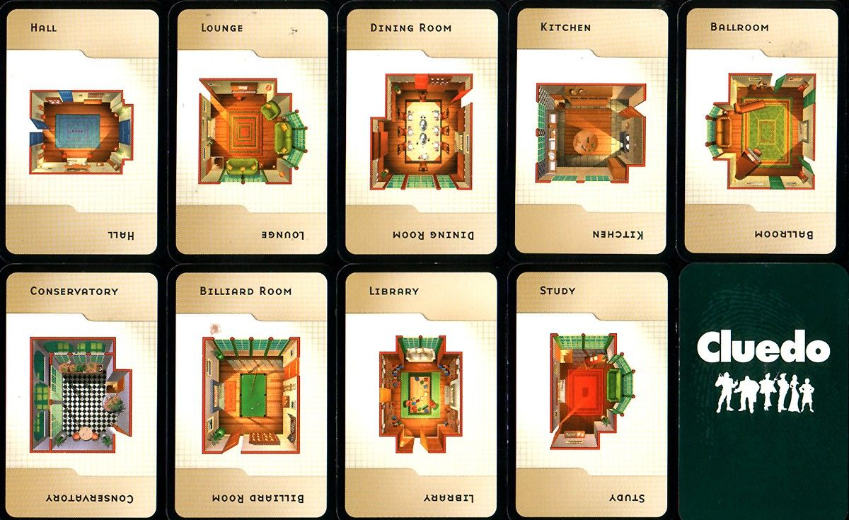 Rooms In Clue Game Cluedo