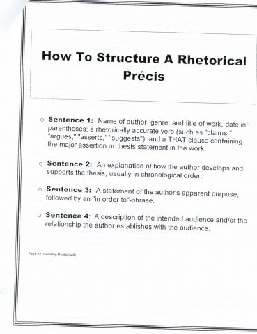 Rhetorical Precis Template  Fans Share Images