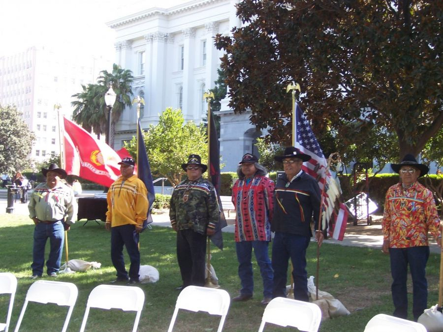 Vietnam Vets From Tule River At Native American Day State Capitol Sept