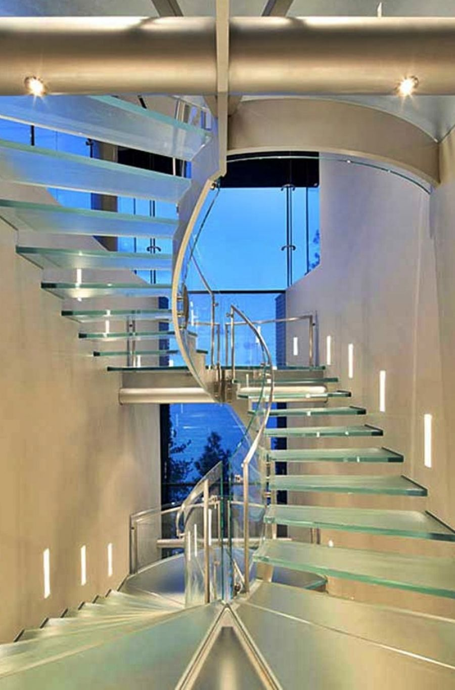 Glass Elevator And Stairwell Of Cliff House