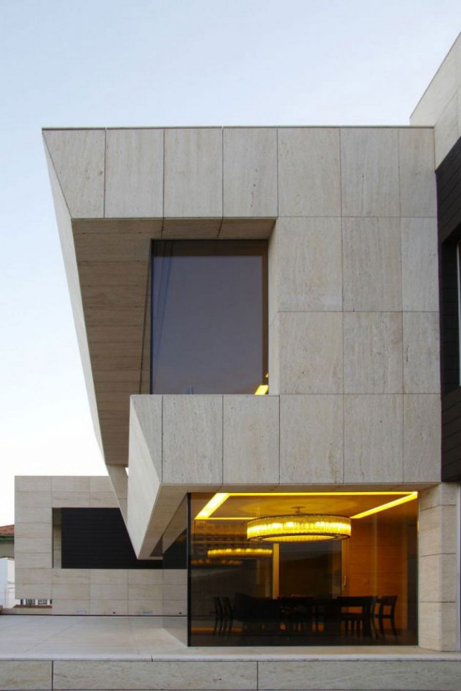 Modern Glass House Design In Cliff Side Of Galicia Spain