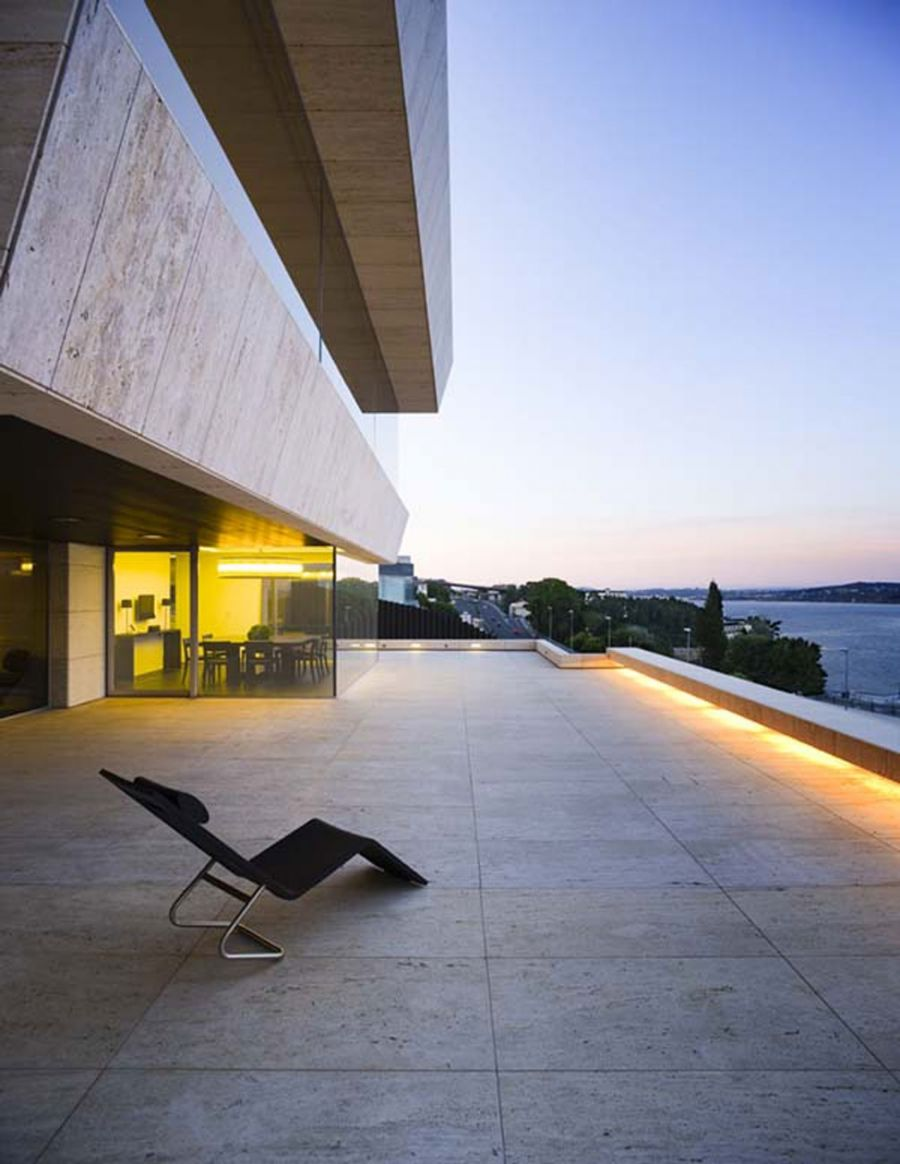Modern Glass House Design In Cliff Side Of Galicia Spain Terrace